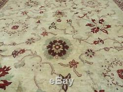 10' X 14' Vintage Hand Knotted Made Indian Agra Wool Rug Vegetable Dyes