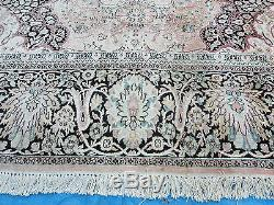 10'X 14' Vintage Hand Made Indian KASHMIR SILK Rug Carpet LARGE