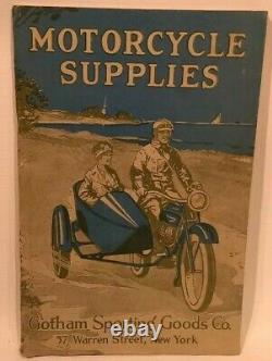 1921 Motorcycle Supplies Vtg Catalog Harley Davidson Indian Excelsior Antique