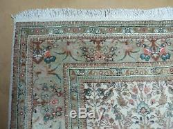 7' X 10' Vintage Hand Made Indian Hunting Design Wool Rug TREE OF LIFE BIRD Nice