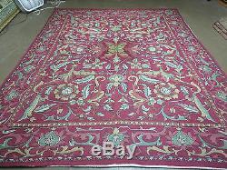 8' X 10' Vintage Indian Embroidery Hand Stitched ASMARA KASHMIR Rug Wool Nice