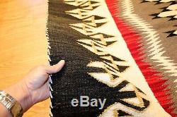 8' x 4' American Indian Navajo Rug Vintage Authentic Hand Woven
