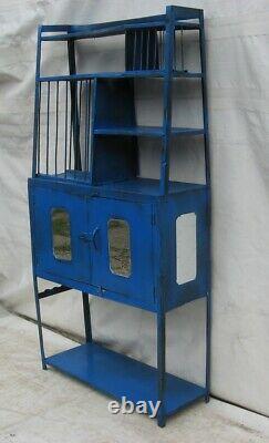 A Vintage Indian Kitchen Plate unit/shelving Bookcase
