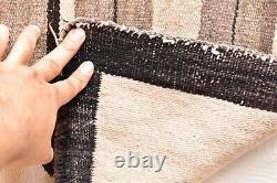 ANTIQUE Navajo Rug native american indian weaving VTG 63x46 LG PICTORIAL STARS