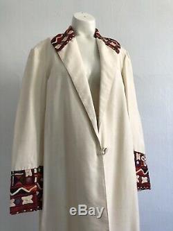 Antique 1920s Indian Shisha Embroidered Silk Coat Jacket Mirrorwork Egypt VTG