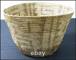 Antique Old Vintage Native American Indian Pima Papago Coiled Basket 6 1/2