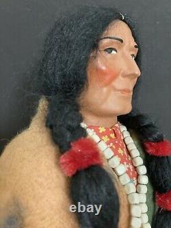 Antique VINTAGE 1930s SKOOKUM INDIAN Doll BULLY GOOD MINT IN ORIGINAL BOX -16