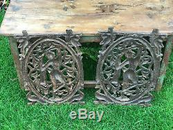 Antique Vintage Cast Iron Indian Balcony Banister Baluster Panel Dancing Lady