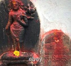 Antique Vintage Indian Buddha. Buddhist Shrine / Altar. Kathmandu Nepal. Tibet