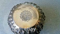 Antique / Vintage Indian / Burmese Silver Bowl- Temple Scenes- 4 1/2 X 3 Inch