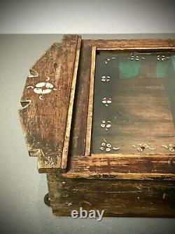 Antique Vintage Indian Cabinet. Art Deco. Display / Bathroom. Floral Decoration
