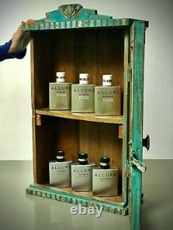 Antique Vintage Indian Cabinet. Art Deco, Display, Bathroom, Kitchen. Turquoise