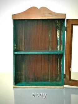 Antique Vintage Indian Cabinet. Art Deco. Display / Bathroom. Pink & Turquoise