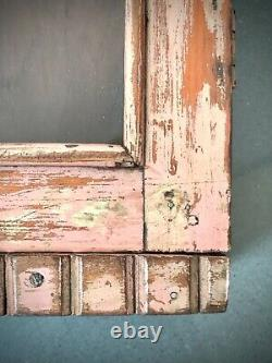 Antique Vintage Indian Cabinet. Art Deco. Display Bathroom. Powder Pink & Teak