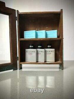 Antique Vintage Indian Cabinet. Art Deco. Display / Bathroom. Turquoise
