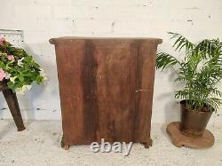 Antique Vintage Indian Green Solid Wooden Glazed Display Kitchen Pantry Cabinet
