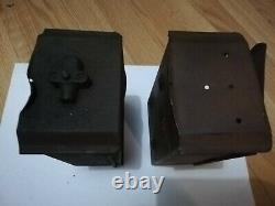 Antique Vintage Indian Powerplus original battery tool boxes (2)