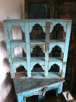 Antique Vintage Indian Wall Shelves Decorative Topi Blue