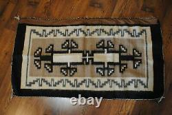 Antique Vintage Native American Indian Rug Blanket 46 By 24 Inches Navajo Art