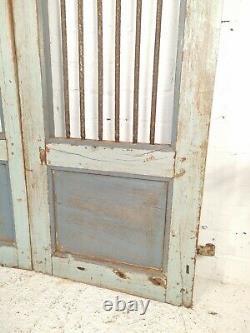 Antique Vintage Pair Indian Wooden Iron Garden Interior Exterior Jali Gates Door