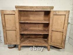 Antique Vintage Pink Indian Solid Wooden Larder Pantry Bathroom Kitchen Cabinet