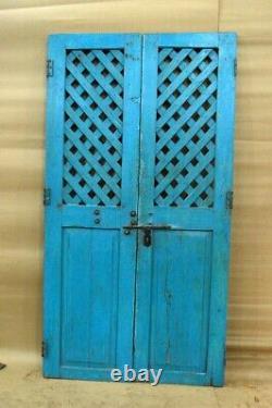 Antique Vintage Rustic Indian Jali Door Preserved From Mid 90's