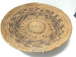 Antique / Vintage So. California Cahuilla Mission Indian Basket Tray / Bowl