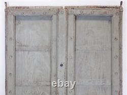 Antique Vintage Worn Paint Indian Wooden Door MILL-557