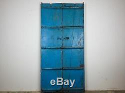 Antique Vintage Worn Paint Indian Wooden Door (REF525)