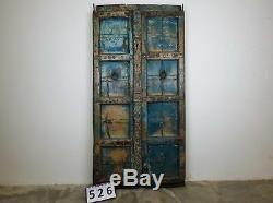 Antique Vintage Worn Paint Indian Wooden Door (REF526)