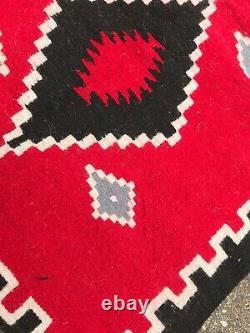 Antique Vtg Native American Navajo Indian Textile Rug Blanket 48 × 30
