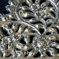 Fine Anglo Indian Vintage Sterling Silver Picture Frame, Repousse Decoration