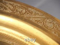 Folding Anglo-Indian Wine Coffee TABLE Brass Top Carved Legs Vintage