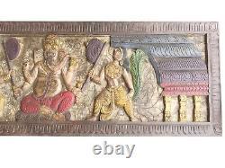 Ganesh Wall Art Reclaimed Wood Headboard Vintage Hand Carved Ganesha ART 72X18