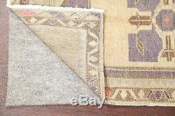 Geometric VINTAGE Purple Oushak Turkish Oriental Area Rug Distressed WOOL 2'x3