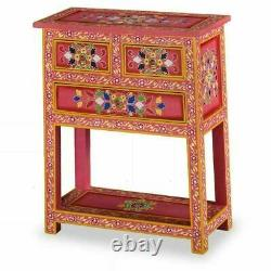 Handmade Drawers Sideboard Cabinet Painted Vintage Indian Antique Solid Mango