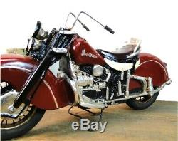 Indian Motorcycle Bike Rubber Wheels Iron Spokes Antique Vintage Style
