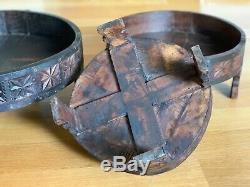 Indian carved grinder chakki table vintage handmade (Large Size)