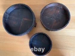 Indian carved grinder chakki table vintage handmade (Medium Size)