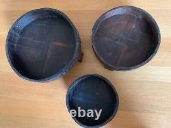 Indian carved grinder chakki table vintage handmade (Small size)