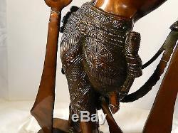 Krishna Brass Sculpture Statue Vintage Large Solid Hindu Flute Spiritual 10.4kg