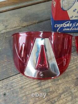 LITE-VISOR Headlight Visor Vintage Original 1950s Accessory Harley Chevy GM Red