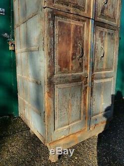Large Vintage Indian Dowry Cabinet Wardrobe Larder Kitchen Storage Cupboard