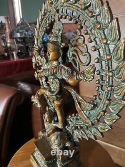 Natraj Brass Sculpture Shiva Statue Vintage Large Solid Hindu Spiritual 43cm 7kg