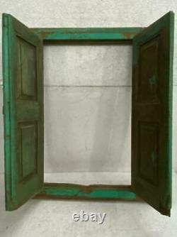 Old Vintage Rare Unique Handmade Fold-able Wooden Window Door