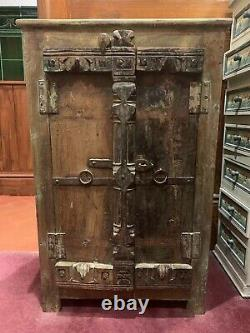 Old Vintage Rustic Shabby Chic Boho Cupboard Probably Indian Bathroom Or Shoe