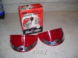 Original 1950s nos Headlight Visorettes Vintage GM Chevrolet Ford Harley part oe