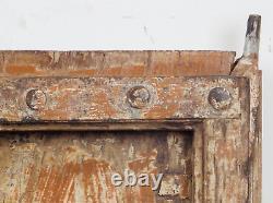 Pair of Antique Vintage Indian Wooden Shutters Doors MILL-561