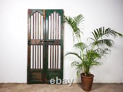 Pair of Vintage Rustic Indian Hardwood Garden Gate Doors (MILL 872/1)