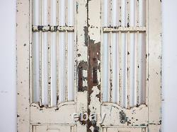 Pair of Vintage Rustic Indian Hardwood Garden Gate Doors (MILL 872/14)